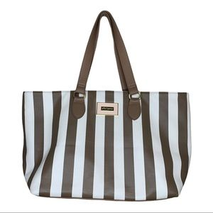 Betsey Johnson striped tote bag NWOT